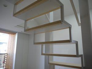 施工した階段