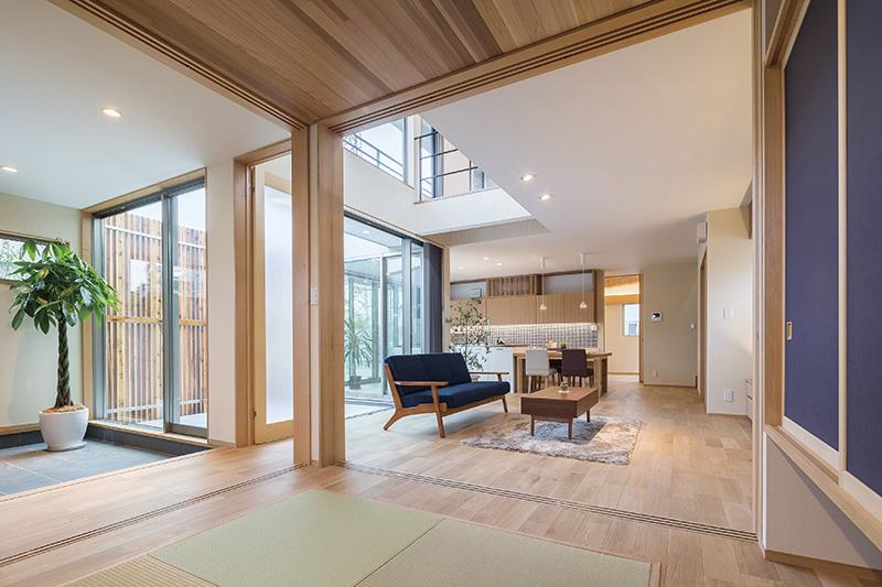 太陽光や風などの自然エネルギーを取り入れたパッシブデザインの長期優良住宅の事例