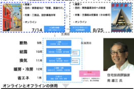HBスクール:南雄三氏による住宅性能レクチャーシリーズ開講しました!
